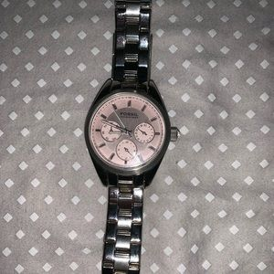 Fossil 100 meters pink watch